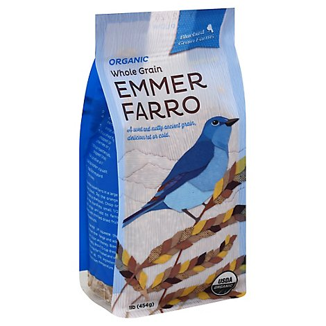 Bluebird Grain Farm Emmer Farro Organic Whole Grain - 16 Oz