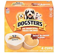 Dogsters Treat for Dogs Ice Cream Style Nutly Peanut Butter and Cheese Flavor - 4-3.5 Fl. Oz.