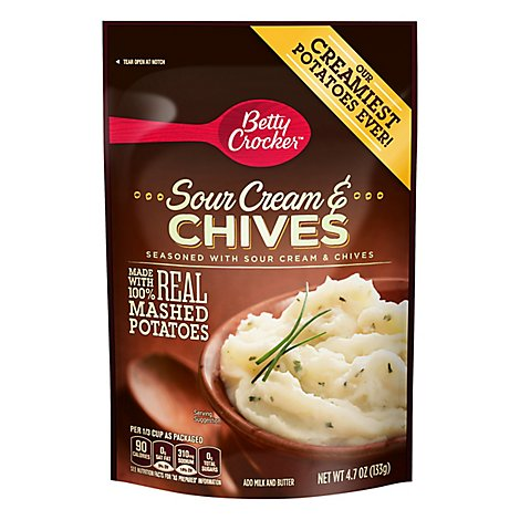 Betty Crocker Potatoes Mashed Sour Cream & Chives Pouch - 4.7 Oz