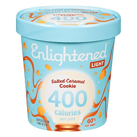 Enlightened Ice Cream Low Fat Sea Salt Caramel 1 Pint - 473 Ml