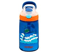Contigo Water Bottle Kids Spill-Proof Autospout Gizmo Flip French Blue 14 Ounce - Each