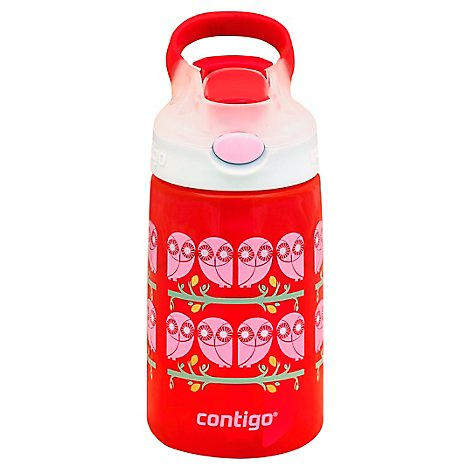 Contigo Water Bottle Gizmo Flip Ruby Owl Eyes 14 Oz - Each