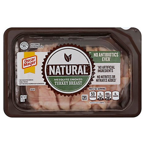 Oscar Mayer Natural Turkey Breast Mesquite Smoked - 7 Oz