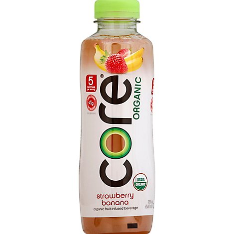 CORE Organic Beverage Strawberry Banana - 18 Fl. Oz.
