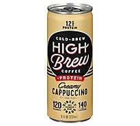 High Brew Coffee Coffee + Protein Cappuccino Creamy - 8 Fl. Oz.