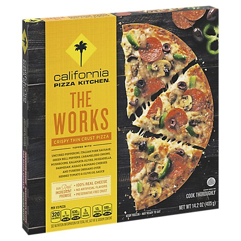 California Pizza Kitchen Pizza Crispy Thin Crust The Works Frozen - 14.2 Oz