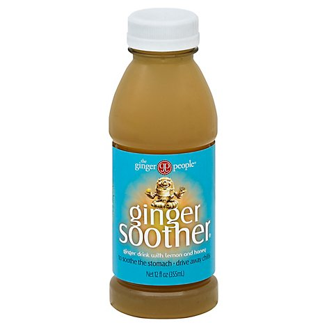 Ginger People Water Ginger Soother W Hny&Lmn - 12 Fo