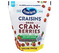 Ocean Spray Craisins Cranberries Dried Reduced Sugar 50% Less Resealable - 20 Oz