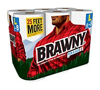 Brawny Paper Towels Pick-A-Size Large Roll 94 2-Ply Sheets Wrapper - 6 Roll