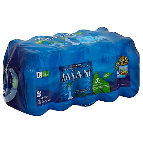 Dasani Water Purified Enhanced With Minerals Bottled 15 Count - 10 Fl. Oz.