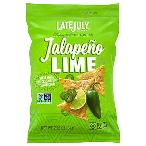Late July Chips Jalapeno Lime Clasico Tortilla - 2.25 Oz