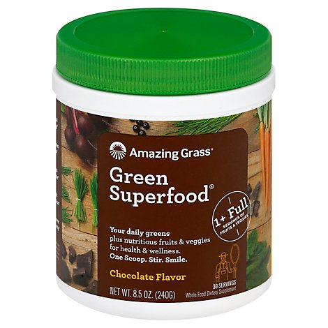 Amaz Grss Grn Superfood Choc - 8.5 Oz