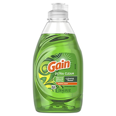 Gain Ultra Dishwashing Liquid Original Scent - 8 Fl. Oz.