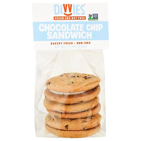 Divvies Cookie Chocolate Chip Vanilla 3 Count - 7.5 Oz