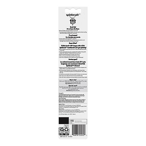 ARM & HAMMER Spinbrush Toothbrush Kids Powered Soft Nickelodeon Paw Patrol - Each