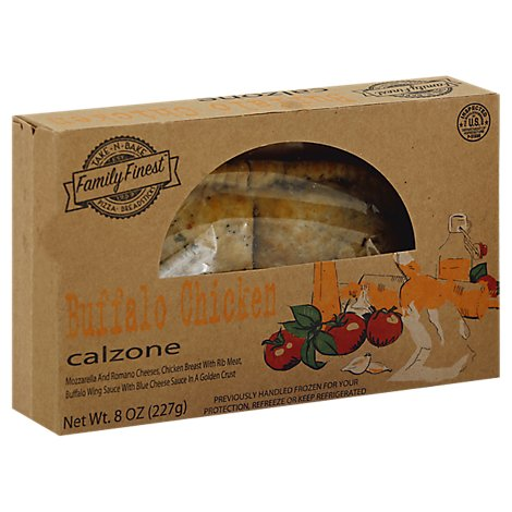 Family Finest Calzone Buffalo Ckn Rtb Sign/Scale/Internet Ready To Bake - 8 Oz