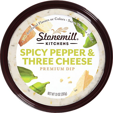 Stonemill Kitchens Dip Premium Spicy Pepper & Three Cheese - 6-10 Oz