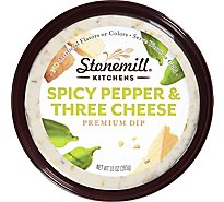 Stonemill Kitchen Three Cheese Peperoncini Great Heated - 10 Oz