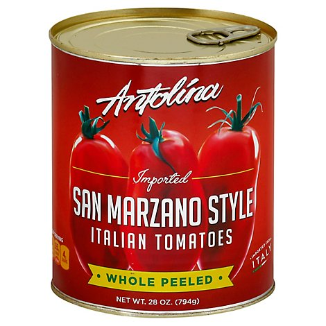 Antolina Tomatoes Italian San Marzano Style Whole Peeled - 28 Oz