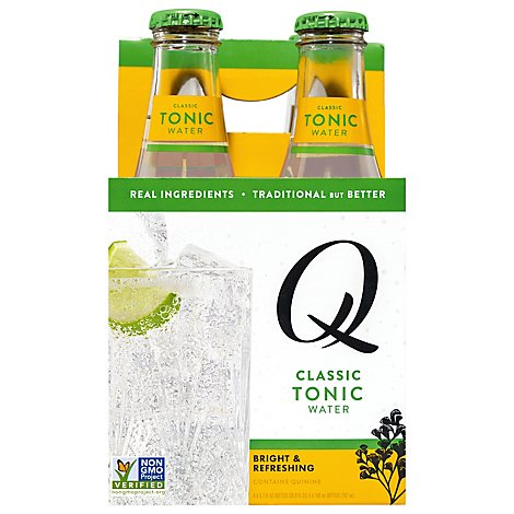Q Mixers Tonic Water Indian - 4-6.7 Oz