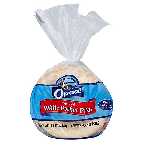 One Republic Flatbread White Pocket Pita 6 Inch - 6 Count