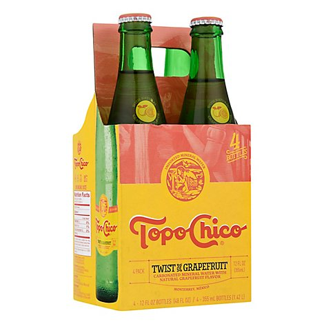Topo Chico Mineral Water Sparkling Twist Of Grapefruit - 4-12 Fl. Oz.