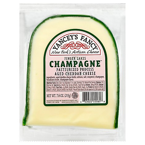 Yanceys Fancy Cheddar With Champagne - 7.6 Oz