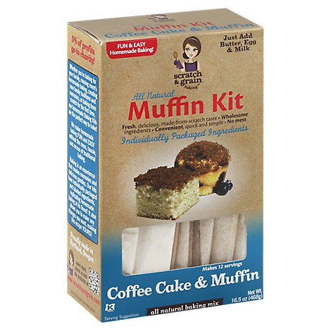 Scratch & Grain Baking Kit Muffin All Natural Coffee Cake & Muffin - 16.5 Oz