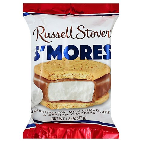 Russell Stover Smores Marshmallow Milk Chocolate & Graham Crackers Bag - 1.3 Oz