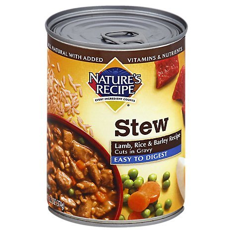 Natures Recipe Dog Food All Natural Stew Lamb Rice & Barley Recipe Cuts in Gravy - 13.2 Oz