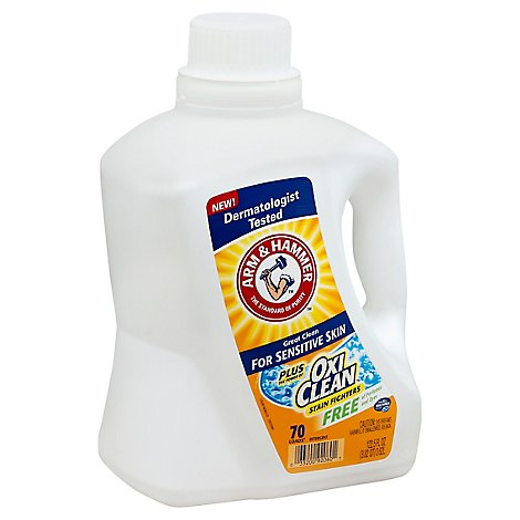 ARM & HAMMER Detergent Liquid Oxi Clean For Sensitive Clean - 122.5 Fl. Oz.