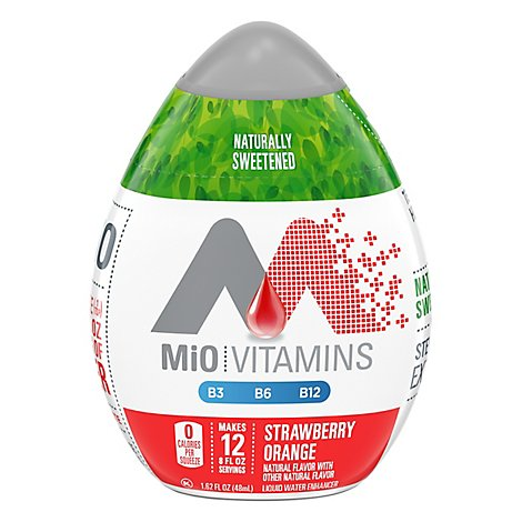 MiO Liquid Water Enhancer Vitamins Strawberry Orange - 1.62 Fl. Oz.