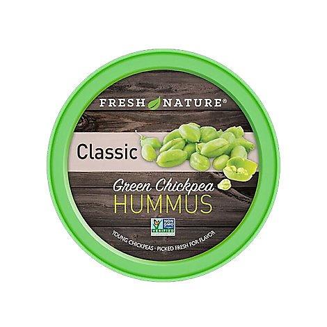Fresh Nature Hummus Classic Green Chickpea - 8 Oz