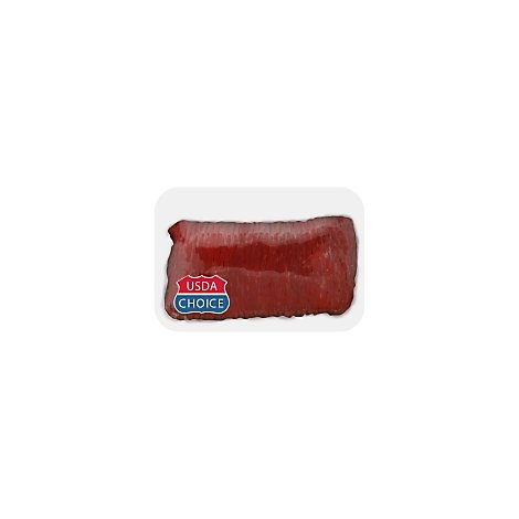 Meat Service Counter USDA Choice Beef Flank Steak Tenderized With Kalibi Marinade - 3.50 LB