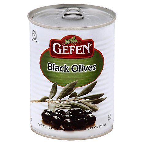 Gefen Olives Black Manzanillo Can - 19 Oz