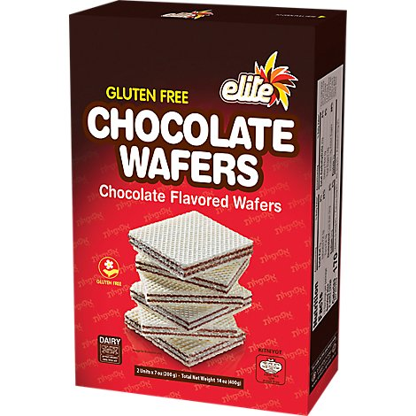 Elite Sugar Wafers Chocolate - 14.1 Oz