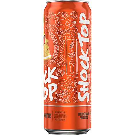 Shock Top Belgian White In Cans - 25 Fl. Oz.