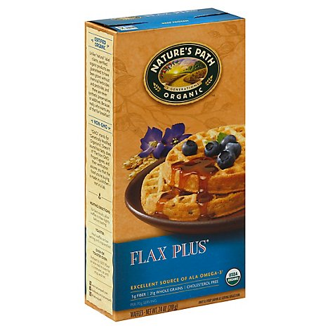 Natures Path Organic Waffles Flax Plus - 7.4 Oz