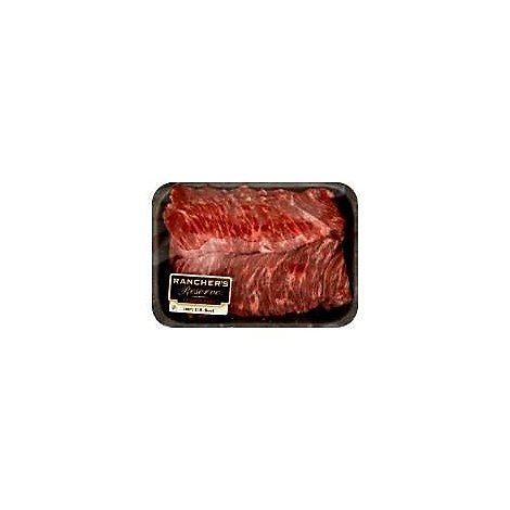 Meat Service Counter USDA Choice Beef Skirt Steak Marinated Contains 7% Solution - 1.50 Lbs.