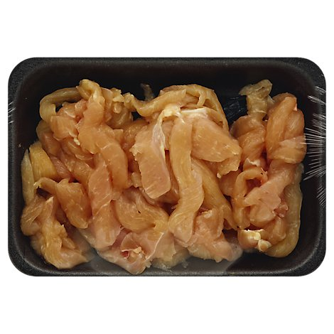Meat Service Counter Chicken For Stir Fry Marinated Contains 7% Solution - 1.00 LB