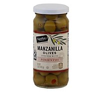 Signature SELECT Olives Manzanilla Stuffed With Pimiento - 5 Oz