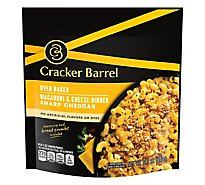 Cracker Barrel Macaroni & Cheese Dinner Oven Baked Sharp Cheddar Pouch - 12.3 Oz