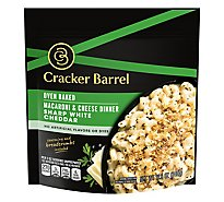 Cracker Barrel Macaroni & Cheese Dinner Oven Baked Sharp White Cheddar Pouch - 12.3 Oz