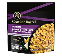 Cracker Barrel Macaroni & Cheese Dinner Oven Baked Cheddar Havarti Pouch - 12.3 Oz