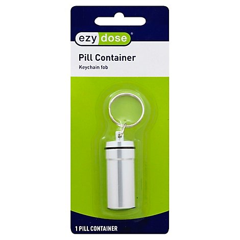 Deluxe Metal Pill Fob Keychain - Each
