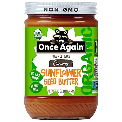 Once Again Organic Sunflower Seed Nut Butter - 16 Oz