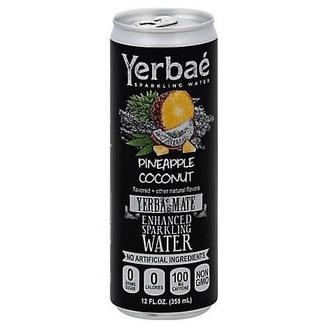 Yerbae Sparkling Water Enhanced Pineapple Coconut - 12 Fl. Oz.