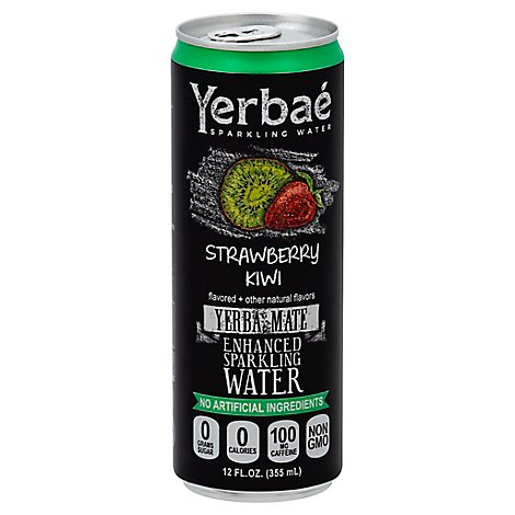 Yerbae Sparkling Water Enhanced Strawberry - 12 Fl. Oz.