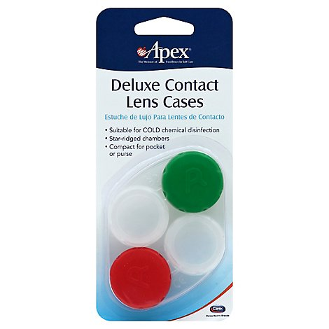 Apex Deluxe Contact Lens Case - Each