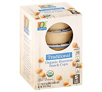 O Organics Organic Hummus Traditional Snack Cups - 5-2 Oz